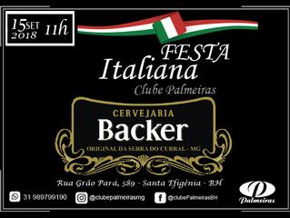 Backer: cervejaria oficial Festa Italiana