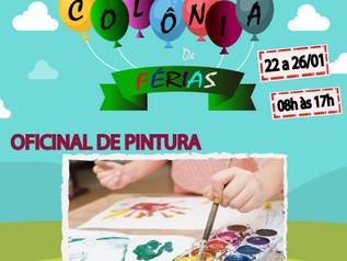 OFICINA DE PINTURA NA COLÔNIA DE FÉRIAS DO CLUBE PALMEIRAS !!!