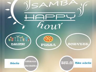 Happy Hour de Fevereiro será ao som de muito samba !