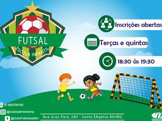 Novas turmas de futsal infantil do Palmeiras !