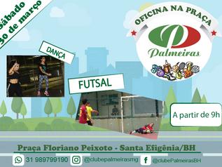 Futsal e Dança na Oficina na Praça