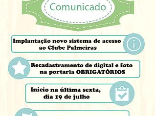 Novo sistema de acesso ao Clube Palmeiras