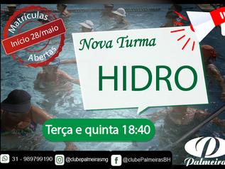 Nova turma de Hidro no Palmeiras