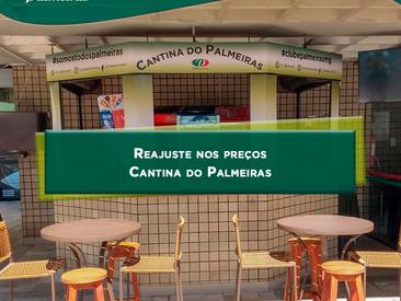 Reajuste nos preços da Cantina do Palmeiras