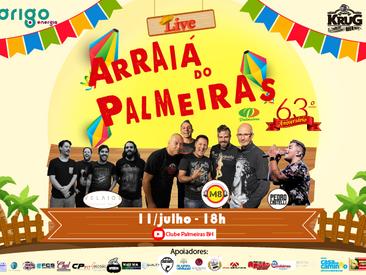 As melhores bandas e sorteios de brindes na Live Arraiá do Palmeiras