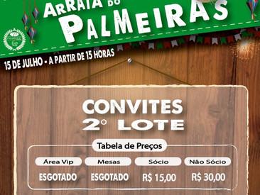 VIRADA DE LOTE PARA O ARRAIÁ DO PALMEIRAS !!!