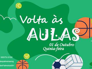 Retorno Escola de Esportes do Clube Palmeiras