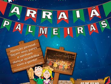 Venha fazer sua inscrição para dançar quadrilha no Arraiá do Palmeiras !