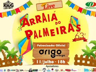 Órigo Energia: Patrocinadora Oficial Live Arraiá do Palmeiras
