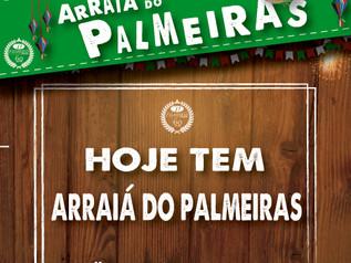 HOJE TEM ARRAIÁ DO PALMEIRAS !!!