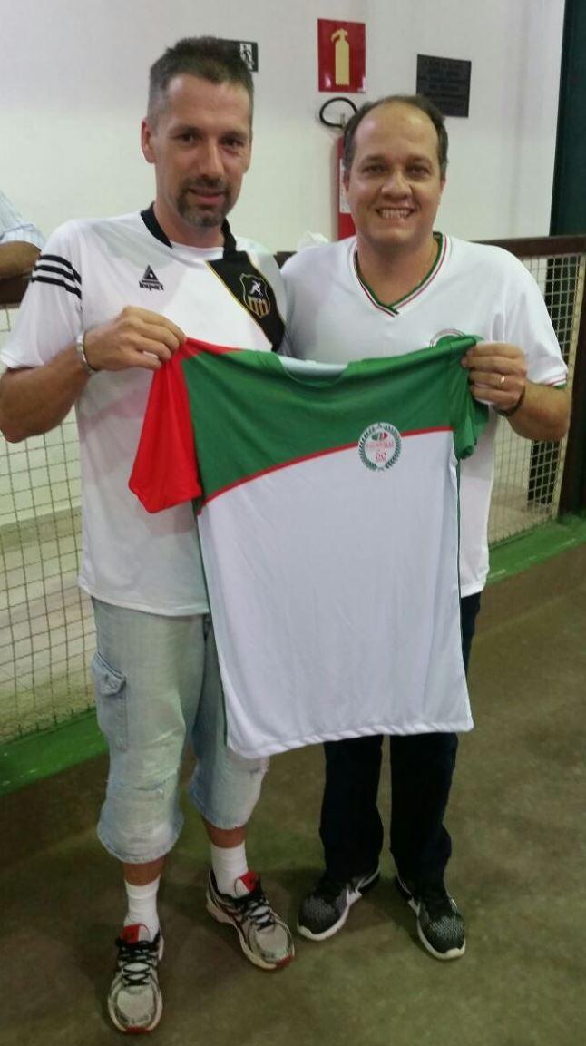 O sócio André Backes  juntamente com o Presidente Lucas Ziegler