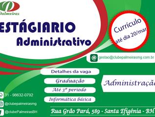 Vaga estagiário administrativo