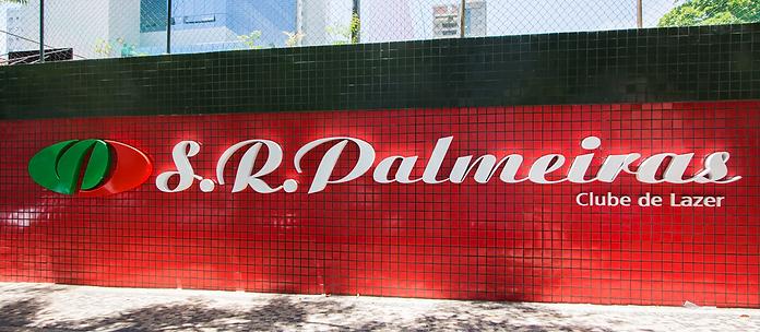 Muro entrada Clube Palmeiras BH