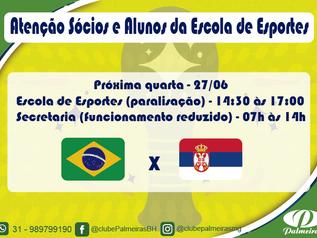 Jogo da Seleção Brasileira na Copa do Mundo