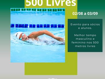 Desafio de natação 500 metros livres