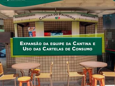 Expansão da equipe da cantina e uso das cartelas de consumo.