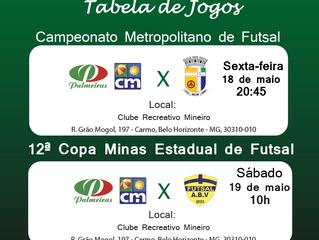 Jogos da equipe Sub 15 de Futsal