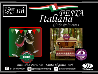 Vinhotti e drinks confirmados na Festa Italiana