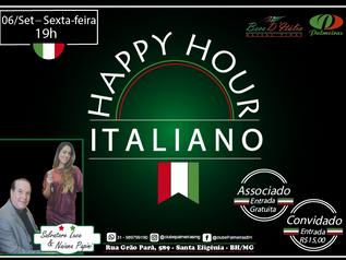 Noite Italiana no Happy Hour de Setembro