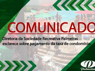 Comunicado  - Taxa de Condomínio