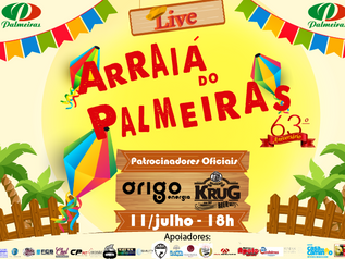 "Vem aí a ""Live Arraiá do Palmeiras"""