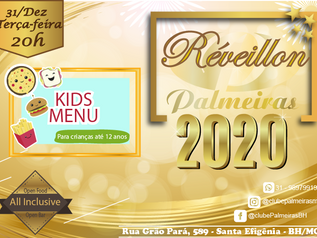 Menu Kids especial no Réveillon do Palmeiras