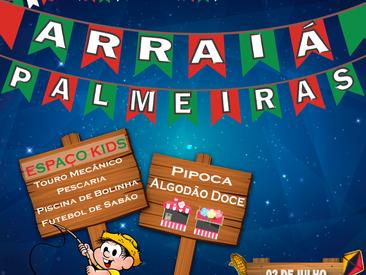 """Espaço kids no """"Arraiá do Palmeiras"""" !"""