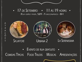 É no próximo sábado a tão esperada Festa Italiana do Palmeiras com ENTRADA FRANCA ! #VemPraRua