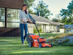 battery mower lady.jpg