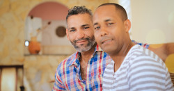 Black Gay Couple Smiling