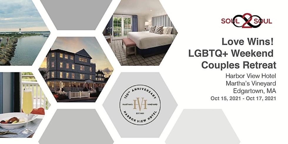 Reconnect & Unwind: Love Wins! LGBTQ+ Weekend Couples Retreat(M. VINEYARD)
