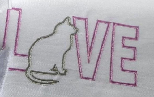 Embroidered Tea Towel - Design 6