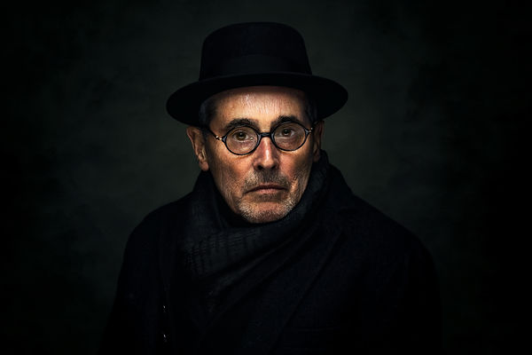 Moody portrait photography