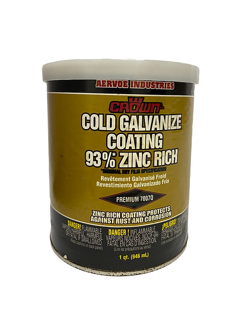 1/4 de galón de pintura de galvanizado en frío