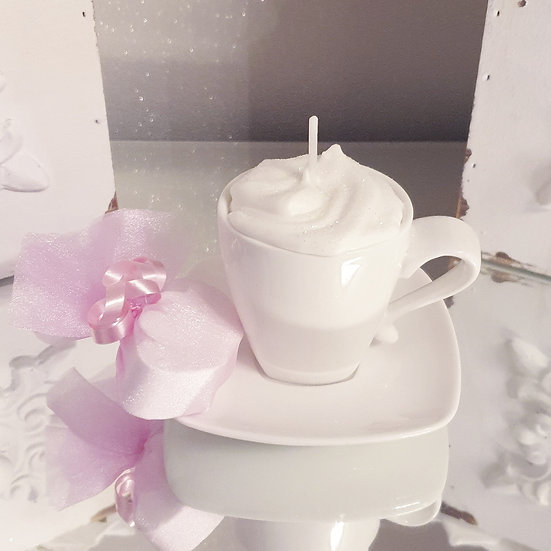 Whipped Soy Wax Cup and Saucer Candle