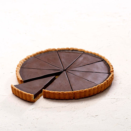 Small Chocolate Tart (Precut x10) - HK$86/tart