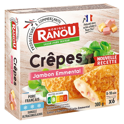 Ham and Emmental Cheese Crepes (x6)-HK$4.2/pcs