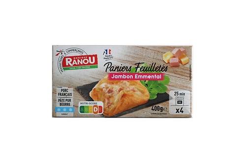 Puff pastry with ham and Emmental cheese (x4) - HK$9.8/pcs