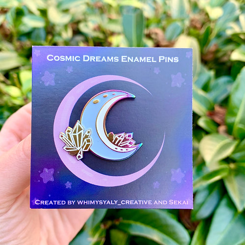 Crystal Moon Soft Enamel Pin