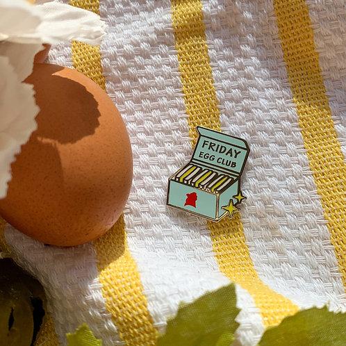 Friday Egg Club Pin