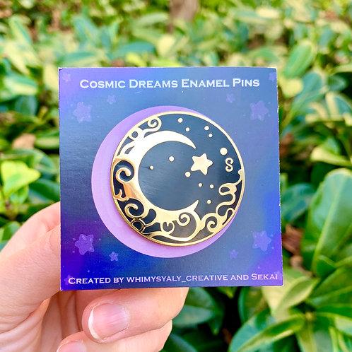 Golden Moon Pin