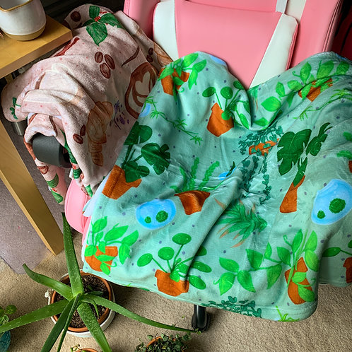 Plants!! Cozy Throw Blanket
