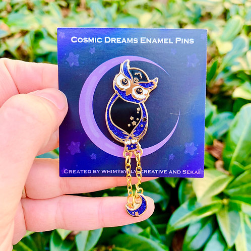 Cosmic Owl Hard Enamel Pin