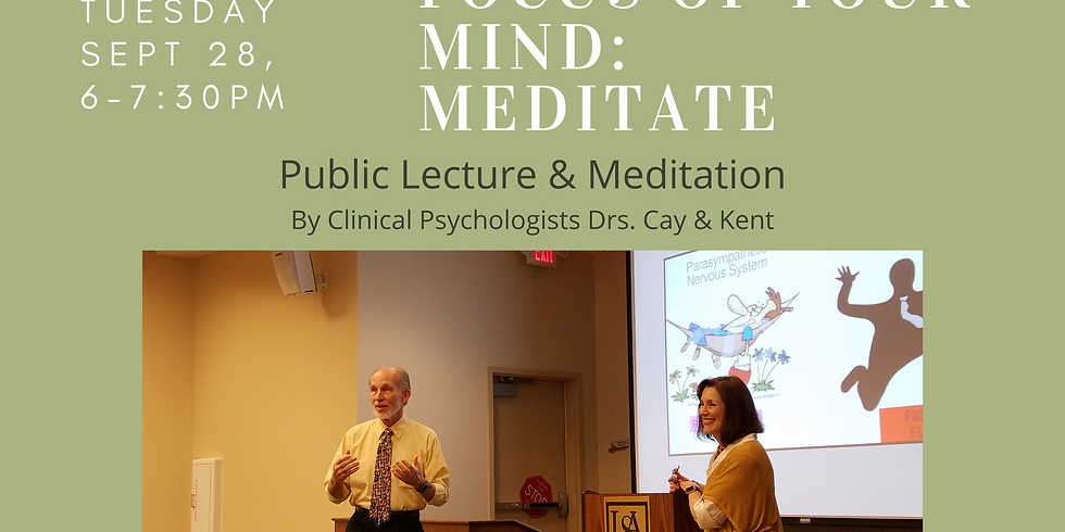 Improve the Focus of your Mind: Meditate