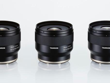 Tamron為Sony全片幅E-Mount無反數碼相機 推出三款全新具備1:2微距功能的廣角鏡