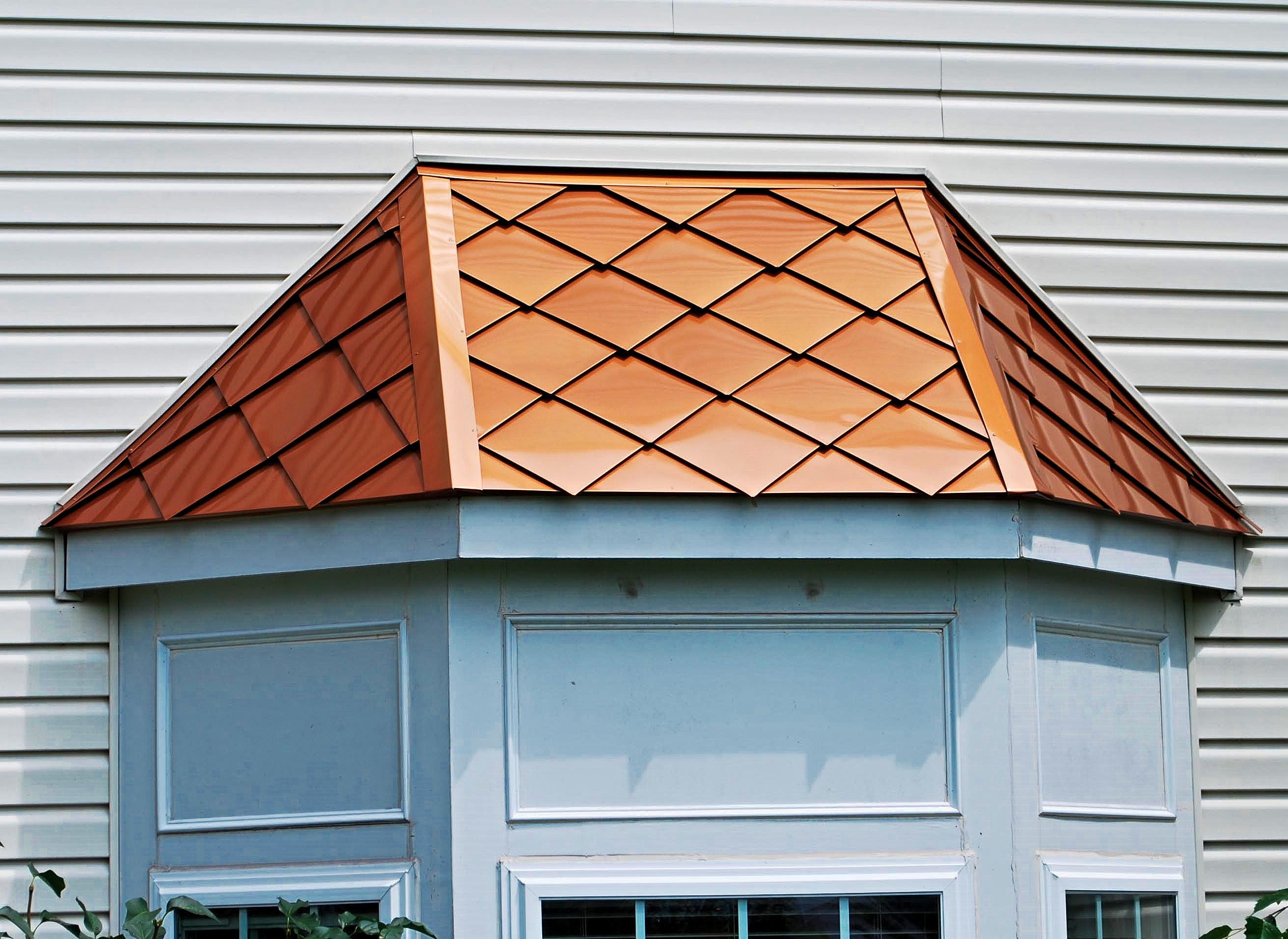 Handmade Aluminum Diamond Tile Roofing.