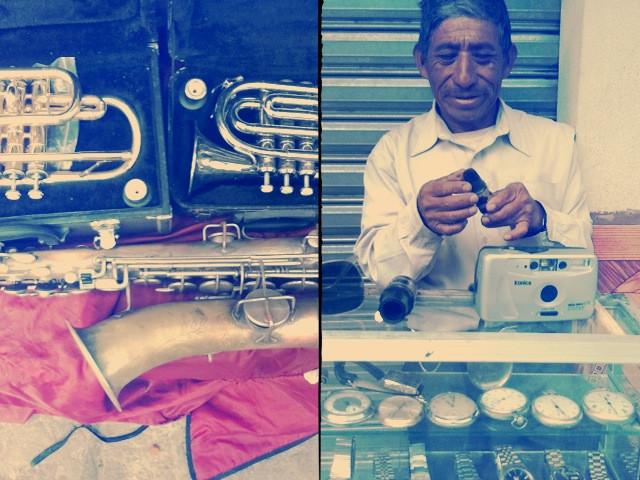 trumpet stall, Antigua Guatemala