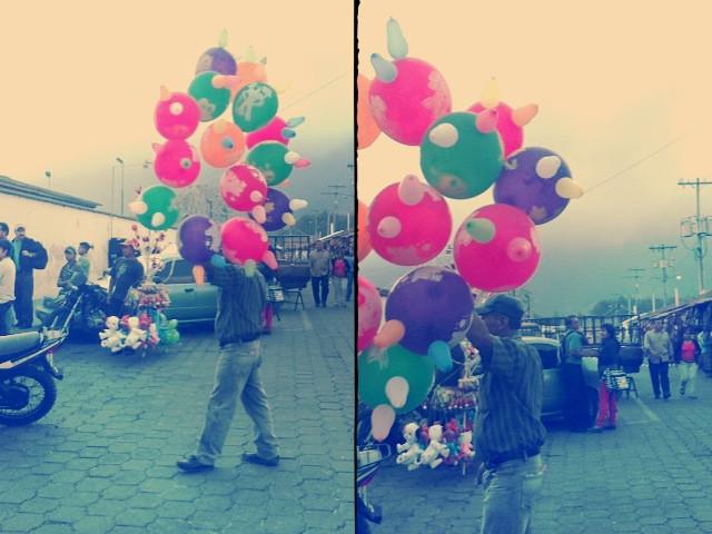 balloon man, Antigua Guatemala