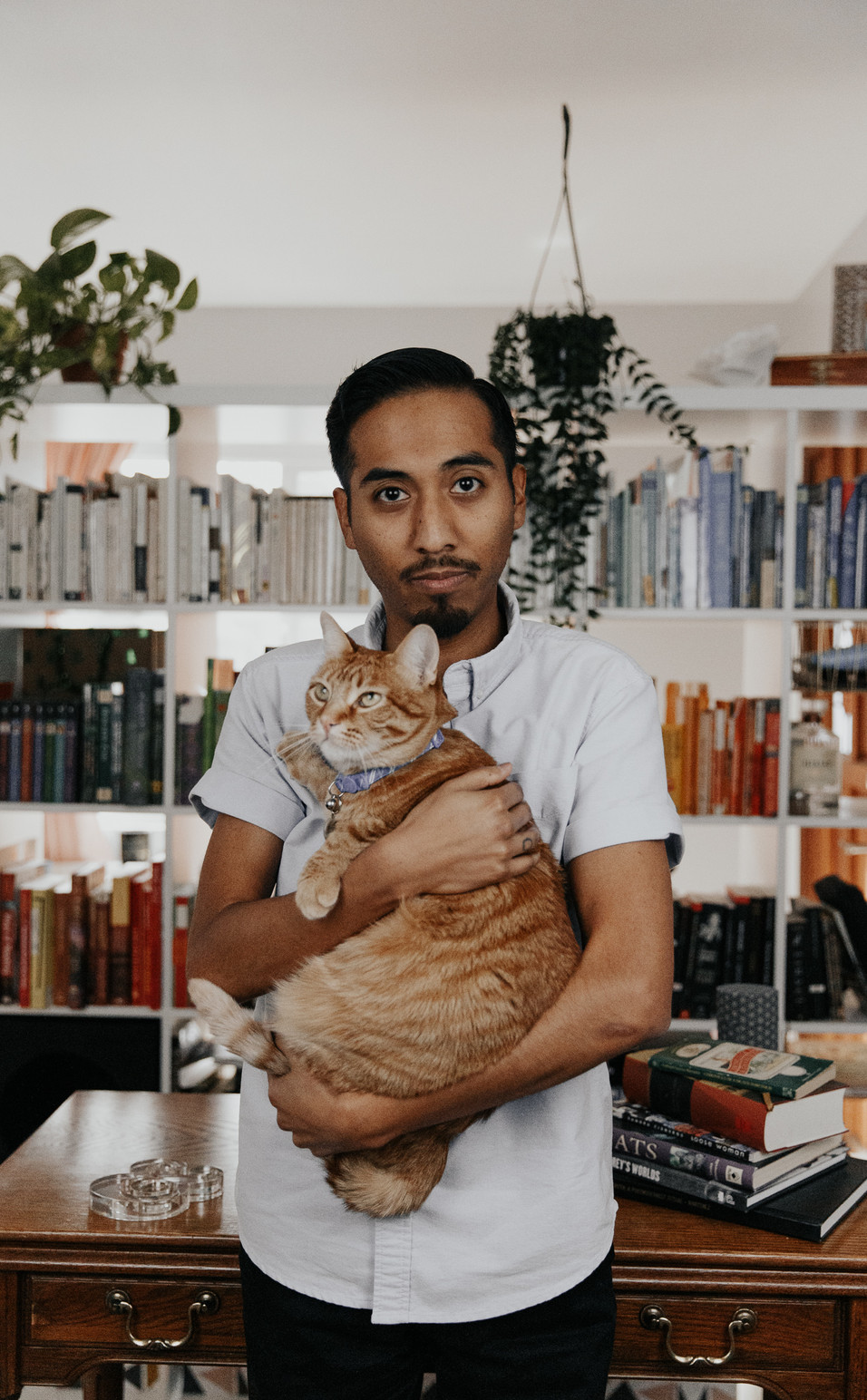 A Man and His Cat - Adam Martinez.jpg