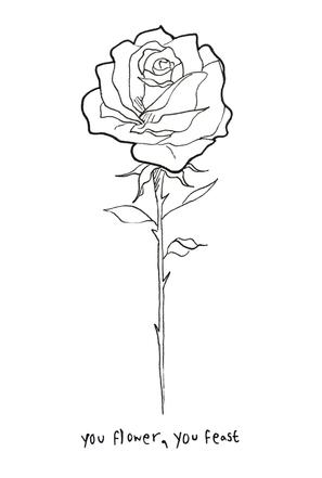 Tattoo Design; Rose